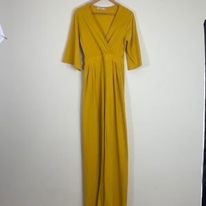 Rebdoll Mustard Yellow Kimono Jumpsuit